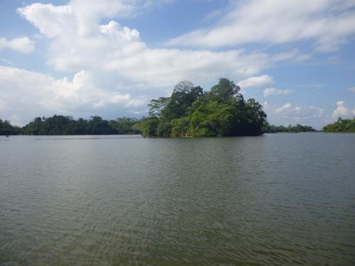 Pulau kecil tengah danau situ gede