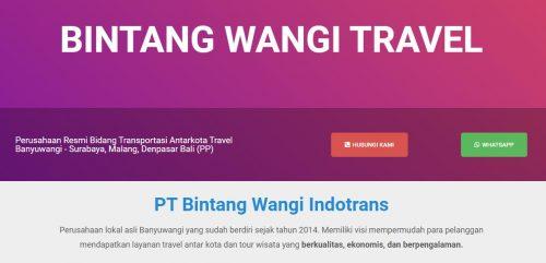 8 Travel Jurusan Surabaya Banyuwangi Termurah Paling Recommended - bintang wangi travel